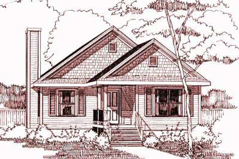 Cottage Exterior - Front Elevation Plan #79-163