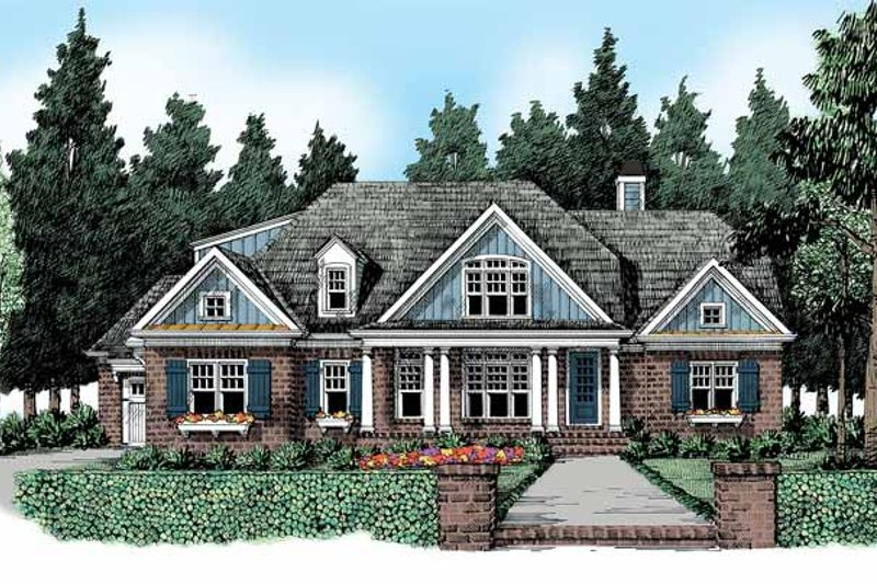 Country Exterior - Front Elevation Plan #927-363
