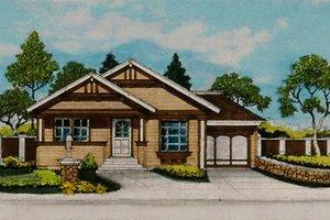 Craftsman Exterior - Front Elevation Plan #515-33