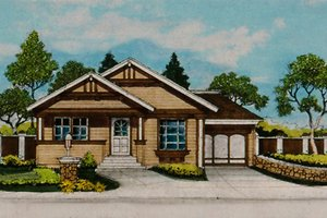 Craftsman Exterior - Front Elevation Plan #515-33