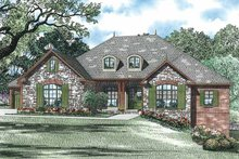 Architectural House Design - Country Exterior - Front Elevation Plan #17-3341