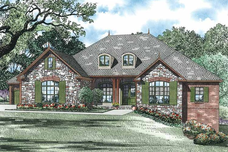 Country Exterior - Front Elevation Plan #17-3341