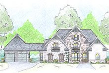 European Exterior - Front Elevation Plan #36-474