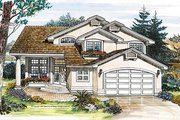 European Style House Plan - 3 Beds 3 Baths 2120 Sq/Ft Plan #47-216 Exterior - Front Elevation