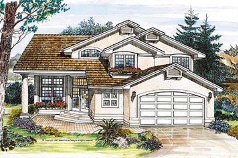 European Style House Plan - 3 Beds 3 Baths 2120 Sq/Ft Plan #47-216