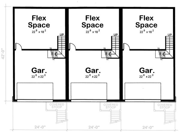 Traditional Floor Plan - Lower Floor Plan #20-629