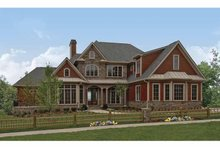 Home Plan - European Exterior - Front Elevation Plan #54-278