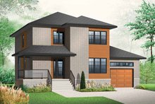 House Plan Design - Contemporary Exterior - Front Elevation Plan #23-2480
