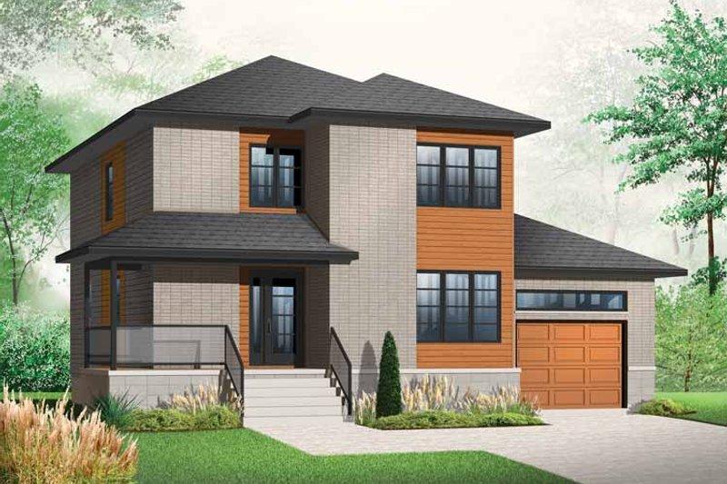 House Plan Design - Contemporary Exterior - Front Elevation Plan #23-2480