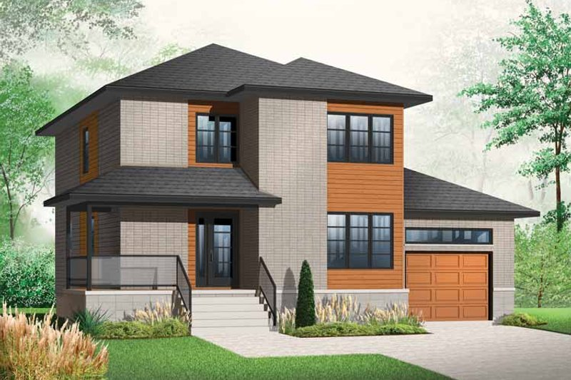 Contemporary Style House Plan - 3 Beds 2.5 Baths 1768 Sq/Ft Plan #23-2480
