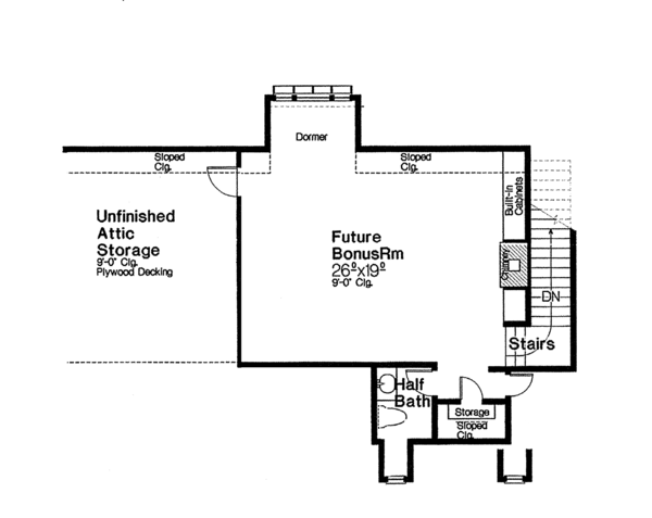 European Floor Plan - Other Floor Plan #310-1260