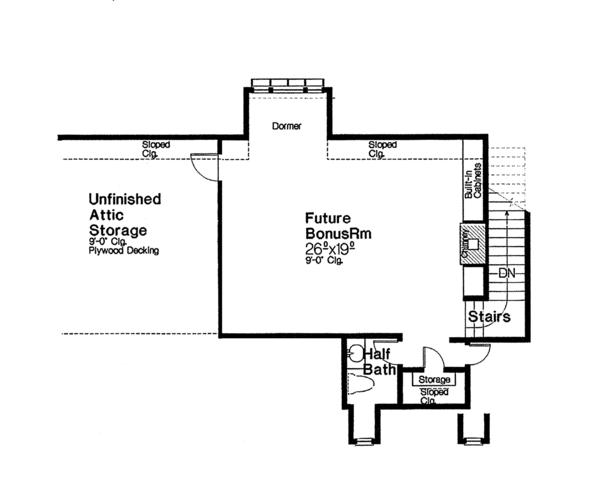 House Plan Design - European Floor Plan - Other Floor Plan #310-1260