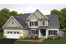 Home Plan - Colonial Exterior - Front Elevation Plan #1010-16
