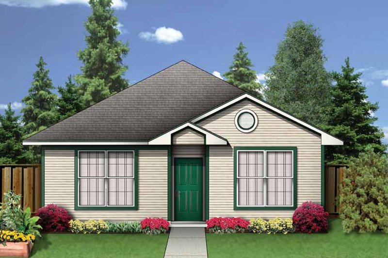 Colonial Exterior - Front Elevation Plan #84-654