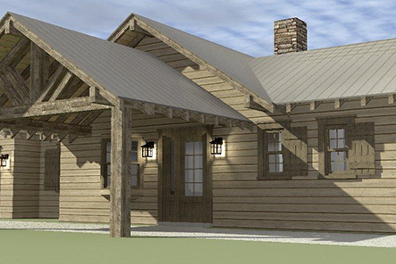 Cabin Exterior - Front Elevation Plan #64-263 - Houseplans.com