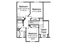 Traditional Floor Plan - Upper Floor Plan Plan #46-850
