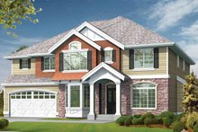 Traditional Exterior - Front Elevation Plan #132-377