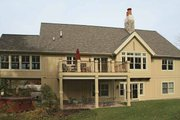 European Style House Plan - 3 Beds 2.5 Baths 2879 Sq/Ft Plan #928-156 Exterior - Rear Elevation