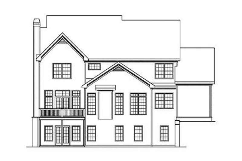 Farmhouse Exterior - Rear Elevation Plan #419-192 - Houseplans.com