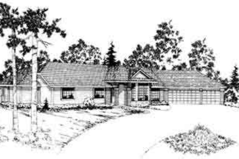 Ranch Exterior - Front Elevation Plan #124-158