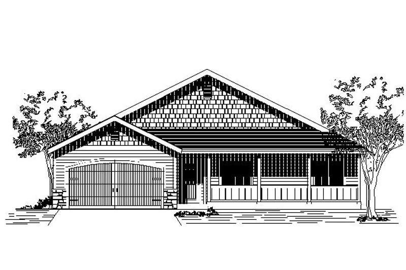Traditional Style House Plan - 3 Beds 2.5 Baths 1573 Sq/Ft Plan #53-426 Exterior - Front Elevation