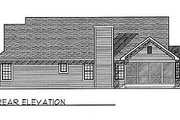 Traditional Style House Plan - 3 Beds 2.5 Baths 1695 Sq/Ft Plan #70-174 Exterior - Rear Elevation