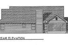 Architectural House Design - Traditional Exterior - Rear Elevation Plan #70-174