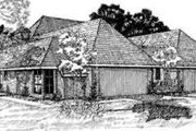 European Style House Plan - 2 Beds 2 Baths 1459 Sq/Ft Plan #310-104 Exterior - Front Elevation