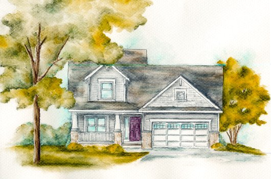 Bungalow Style House Plan - 4 Beds 2 Baths 1480 Sq/Ft Plan #20-2082 Exterior - Front Elevation