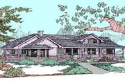 Traditional Style House Plan - 3 Beds 2 Baths 1820 Sq/Ft Plan #60-567 Exterior - Front Elevation