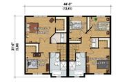 Contemporary Style House Plan - 5 Beds 2 Baths 2666 Sq/Ft Plan #25-4520 Floor Plan - Upper Floor