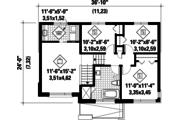 Contemporary Style House Plan - 3 Beds 1 Baths 1419 Sq/Ft Plan #25-4734 Floor Plan - Upper Floor Plan