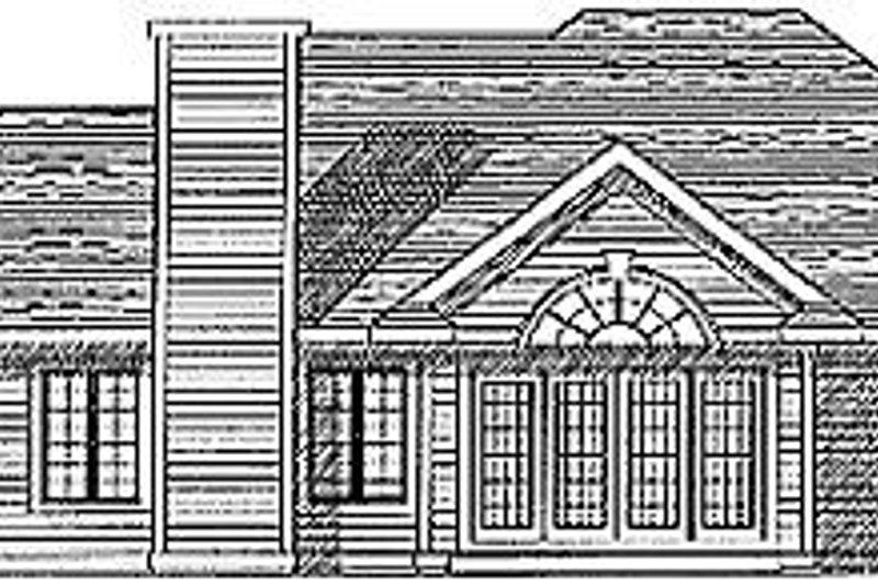 Traditional Exterior - Rear Elevation Plan #70-277 - Houseplans.com