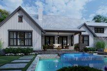 Dream House Plan - Cottage Exterior - Rear Elevation Plan #120-269