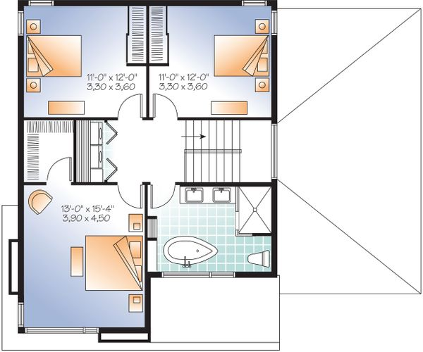 Upper Level - 1850 square foot modern home