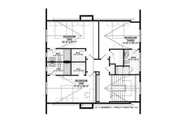 Country Floor Plan - Upper Floor Plan Plan #928-1