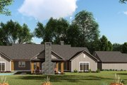 Craftsman Style House Plan - 3 Beds 2.5 Baths 2191 Sq/Ft Plan #923-142 Exterior - Rear Elevation