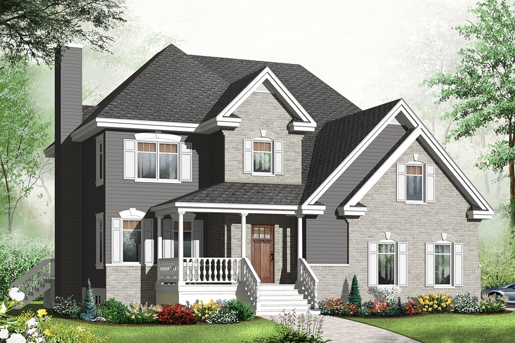 european style house plan 4 beds 2 5 baths 2714 sq ft plan 23 2544. Black Bedroom Furniture Sets. Home Design Ideas