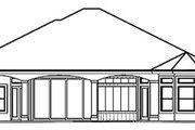 Mediterranean Style House Plan - 3 Beds 3.5 Baths 2951 Sq/Ft Plan #27-289 Exterior - Rear Elevation