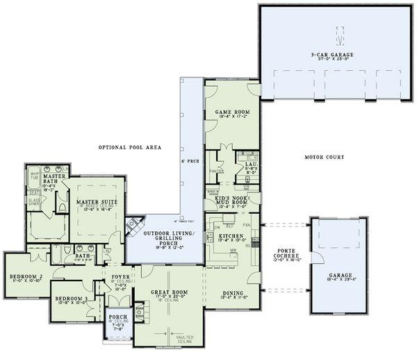 European Floor Plan - Main Floor Plan Plan #17-2552