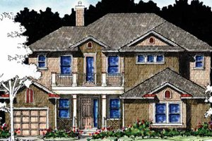 Architectural House Design - Country Exterior - Front Elevation Plan #1007-62