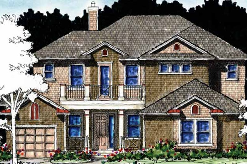 Country Exterior - Front Elevation Plan #1007-62