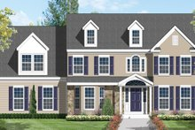 Architectural House Design - Colonial Exterior - Front Elevation Plan #1053-10