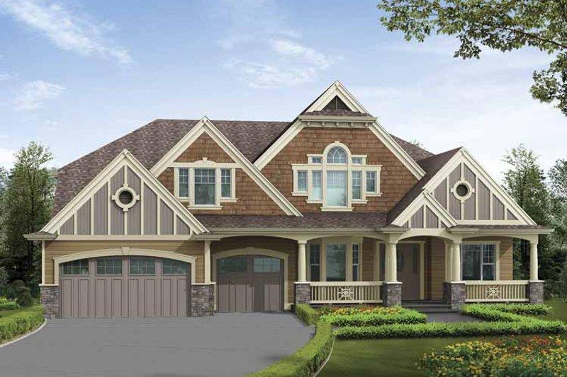 Craftsman Exterior - Front Elevation Plan #132-502 - Houseplans.com