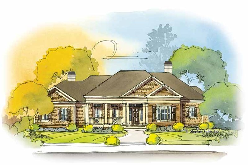 Colonial Exterior - Front Elevation Plan #429-393