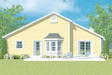 House Blueprint - Ranch Exterior - Rear Elevation Plan #72-1097