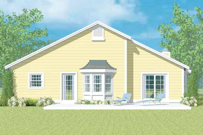 House Blueprint - Ranch Exterior - Rear Elevation Plan #72-1097