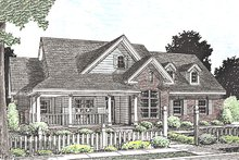 Dream House Plan - Country Exterior - Front Elevation Plan #20-2037