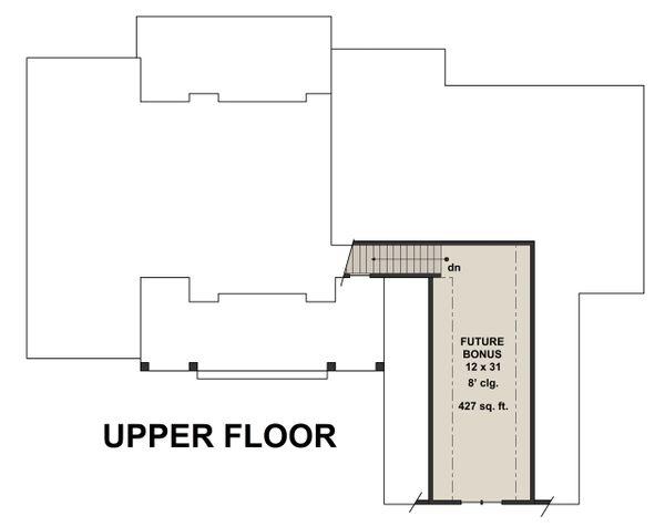 Farmhouse Floor Plan - Upper Floor Plan Plan #51-1134