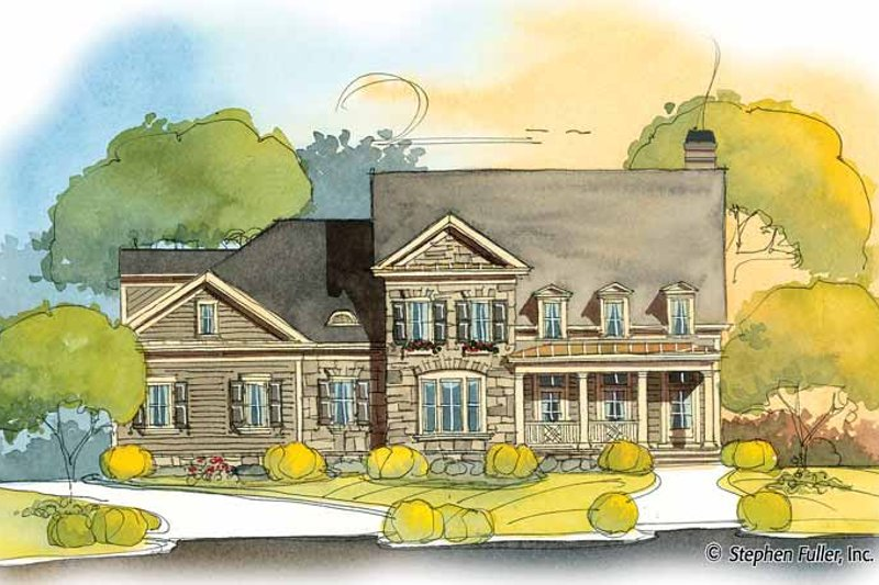 Country Exterior - Front Elevation Plan #429-398